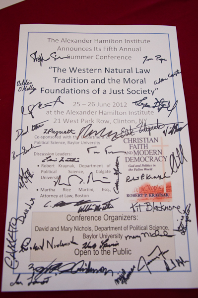Signed poster announcing the Fifth Annual Summer Conference.