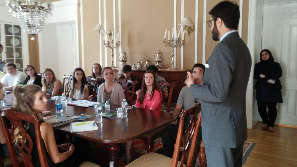 WAPONS students with Dr. Hamdullah Mohib, the Ambassador of Afghanistan