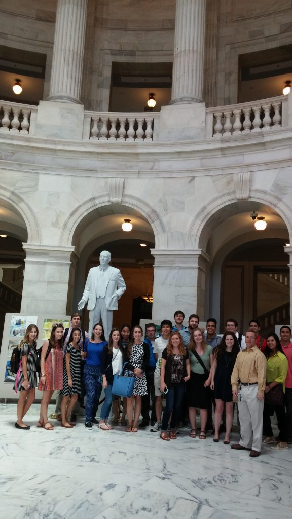 WAPONS students with Josh Carter, Military Legislative Assistant, Sen. John Hoeven at the Senate Russell building