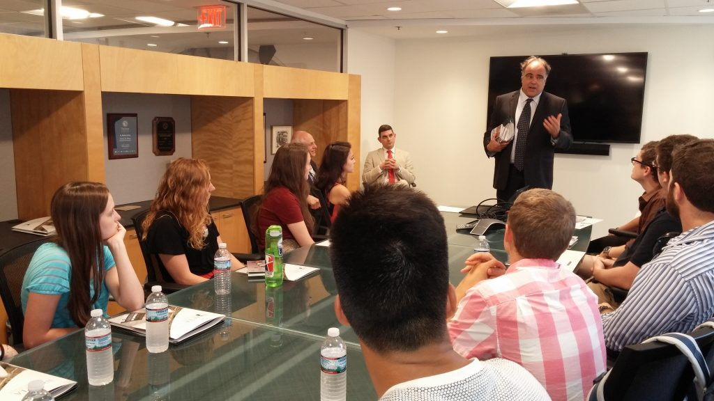 WAPONS students with AHI Charter Fellow Bob Paquette at the American Council for Trustees and Alumni (ACTA)